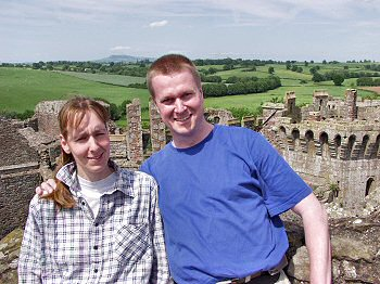 Picture of Imke and Armin at Raglan Castle