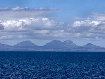 Picture of the Paps of Jura from the ferry