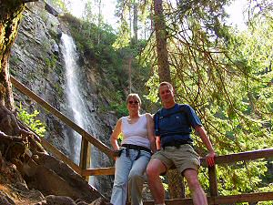 Picture of us at Plodda Falls
