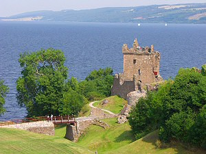 Picture of Loch Ness and Urquhart Castle