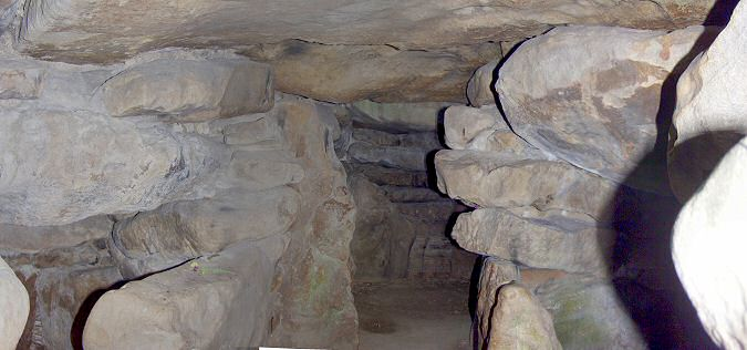 Picture of the chambers inside West Kennett Long Barrow