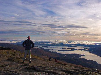 Picture of Armin with Loch Lomond in the background