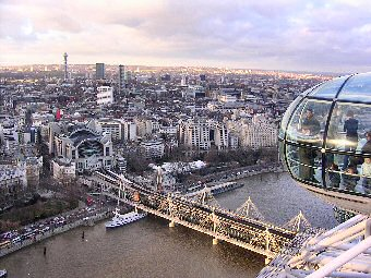 Picture of a view from the London Eye