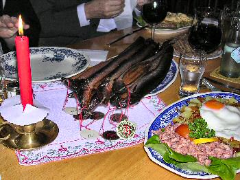 Picture of plate with 6 smoked eels