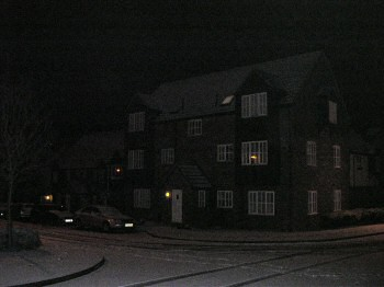 Picture of Dewell Mews in the snow