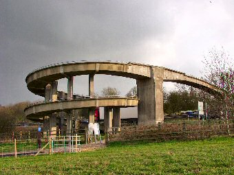 Picture of the curly whirly footbridge