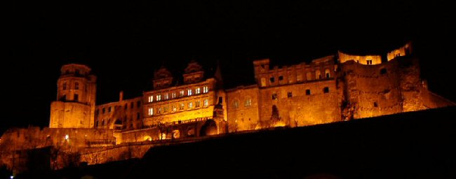 Picture of Heidelberg castle at night