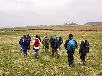 Picture of walkers on Islay