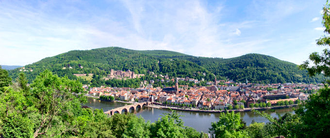 Picture of a panoramic view over Heidelberg