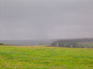 Picture of rain over the Wiltshire Downs
