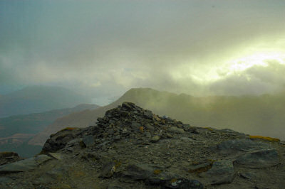 Picture of the cairn on the summit of Ben Vane