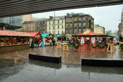Picture of the Christmas Market in Glasgow