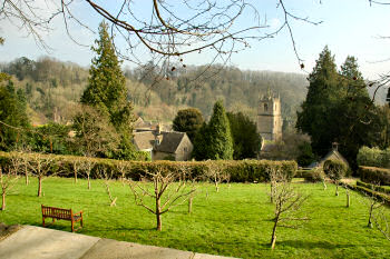 Picture of a view over the roofs of Castle Combe