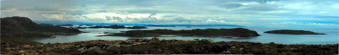 Picture of a view over the Summer Isles