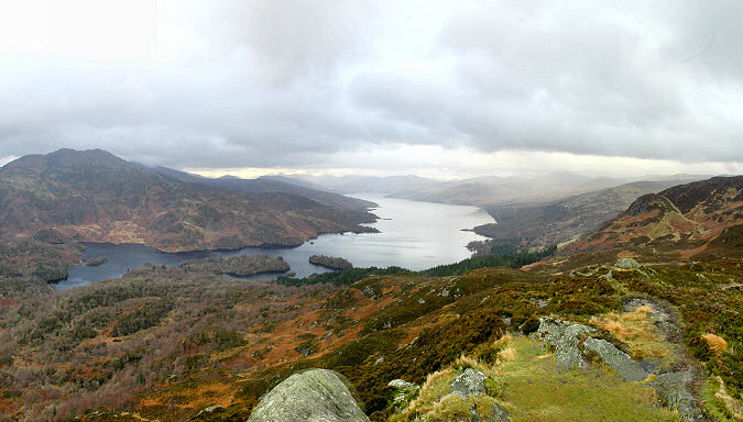 Picture of a view over a loch on a cloudy day