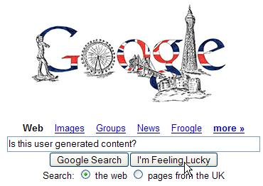 Picture of the Google UK homepage on 06/Nov/2006
