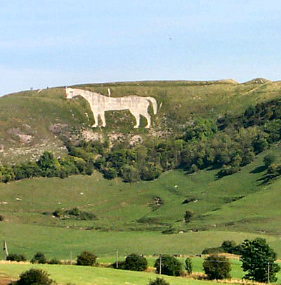 Picture of a chalk white horse