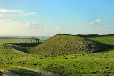 Picture of the earth walls of an iron age hillfort