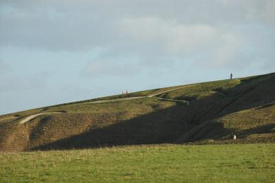 Picture of a white horse hillside carving