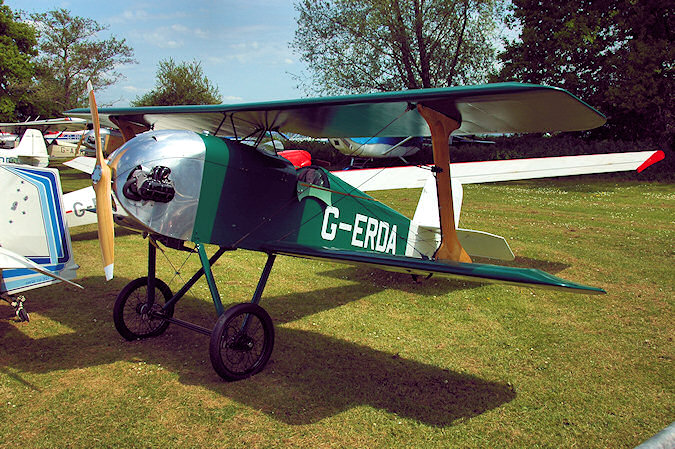 Picture of an old plane with the registration G-ERDA